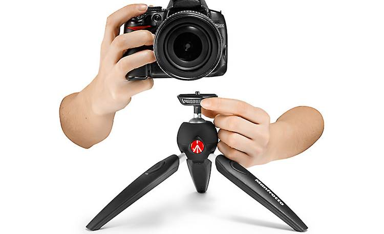 Manfrotto Pixi EVO Quick wheel attachment connects your camera in seconds