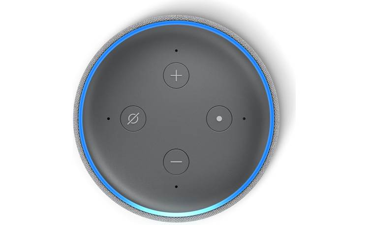 Amazon Echo Dot (3rd Generation) Gray - top-mounted control buttons