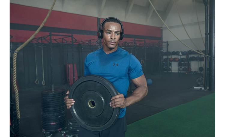 Under Armour® Sport Wireless Train — Engineered by JBL Secure fit for grueling workouts