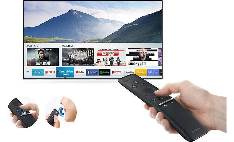 Samsung UN55NU8000 OneRemote includes voice control