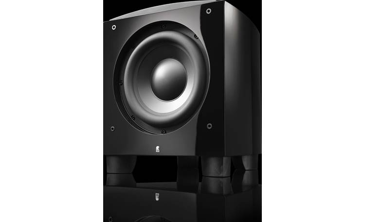 "Revel Performa3 B112v2 High-excursion 12"" woofer with die-cast aluminum frame delivers deep, impactful bass"