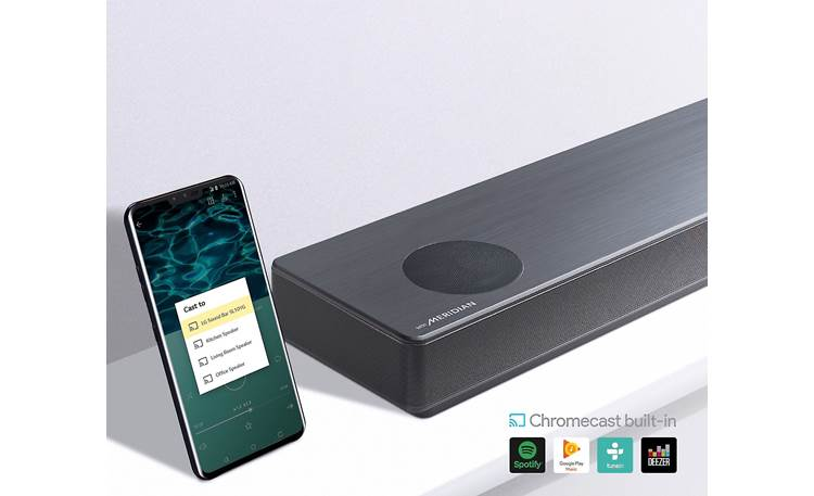 LG SL10YG Chromecast built-in for streaming music from the cloud with compatible mobile apps