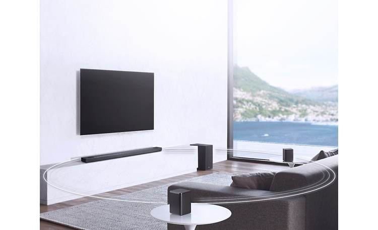 LG SL10YG Compatible with optional surround speaker kit (sold separately)