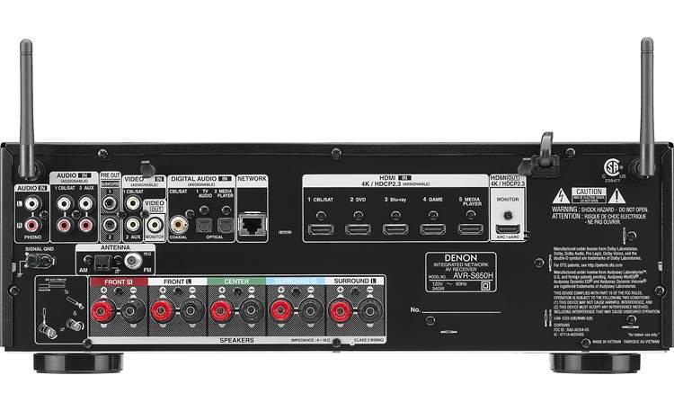 Denon AVR-S650H (2019 model) Back