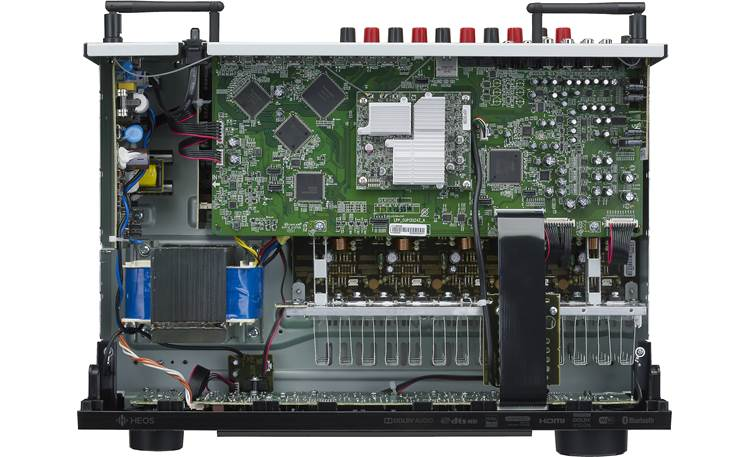 Denon AVR-S650H (2019 model) Inside look at circuitry and design (top cover removed)