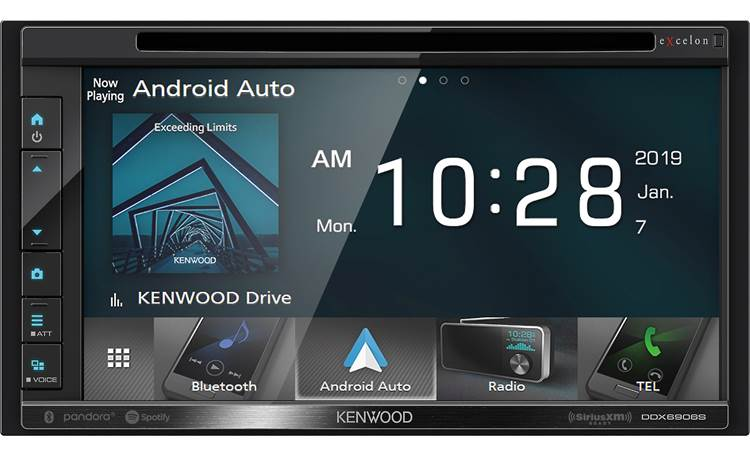 Kenwood Excelon DDX6906S Enjoy streaming and high-res music with lots of options for sight and sound