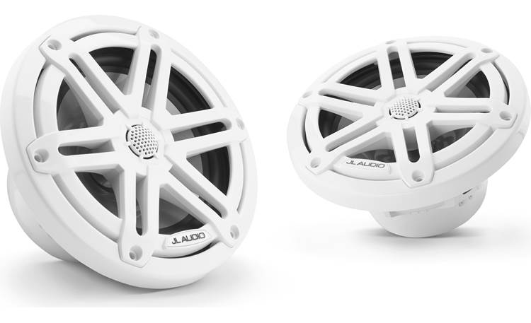 JL Audio M3-650X-S-Gw JL Audio builds the tweeter into the white sport grille