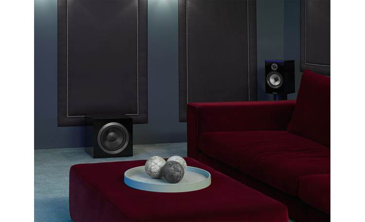 Bowers & Wilkins DB4S Shown as part of a Bowers & Wilkins home theater system