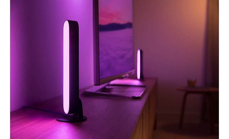 Philips Hue White and Color Ambiance Play Light Bar Extension Stand it upright to paint your walls with light