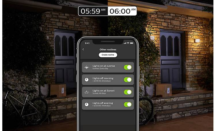 Philips Hue Lucca Create lighting routines in the Hue mobile app