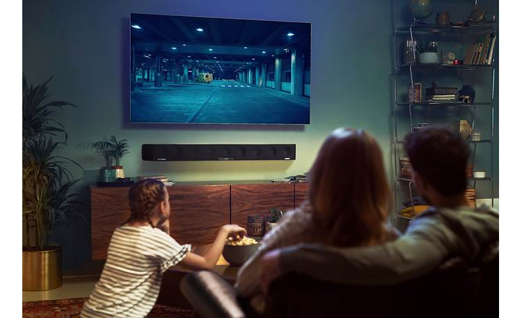 Sennheiser AMBEO Soundbar Wall Mount Mounts your AMBEO (sold separately) securely against the wall for a streamlined look