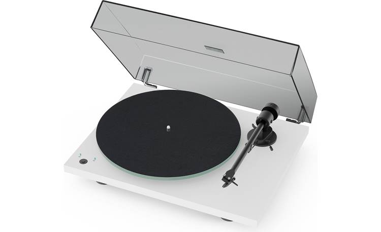 Pro-Ject T1 Shown with dust cover and included felt mat