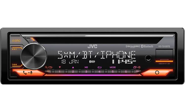 JVC KD-T910BTS The variable color display jazzes up the look in your dash