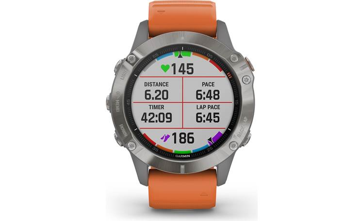 Garmin fenix 6 Sapphire Selectable display fields