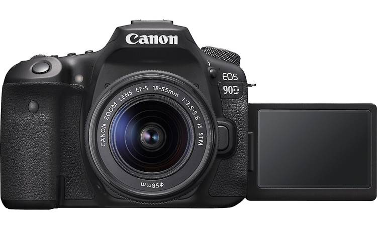 Canon EOS 90D Kit Shown with rotating touchscreen facing forward
