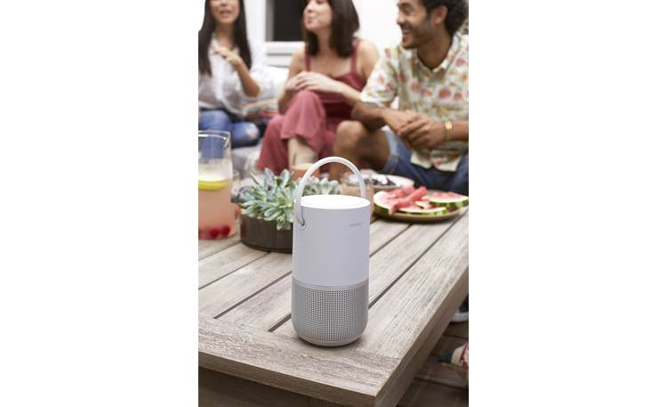 Bose® Portable Home Speaker Built-in rechargeable batteries deliver up to 12 hours of music