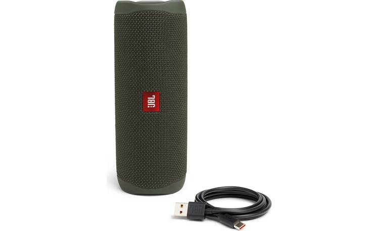 JBL Flip 5 Green - with included charging cable