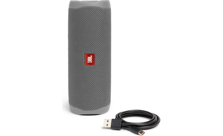 JBL Flip 5 Grey - with included charging cable