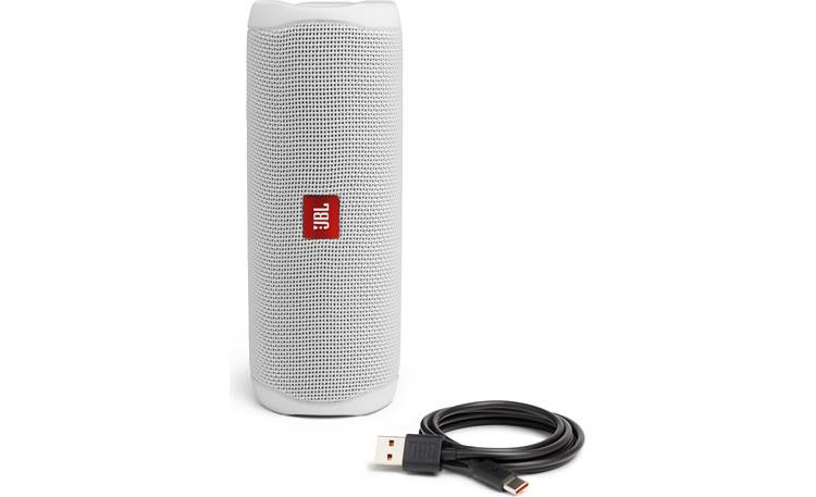 JBL Flip 5 White - with included charging cable