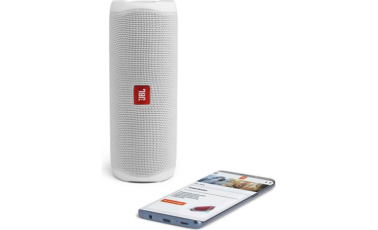 JBL Flip 5 White - stream via Bluetooth (smartphone not included)