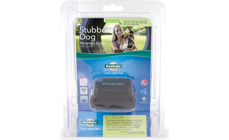 PetSafe Stubborn Dog In-ground Fence™ extra receiver collar Shown with packaging