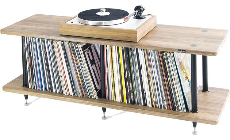 Solidsteel VL-2 Each shelf supports 150 lbs. (turntable and LPs not included)