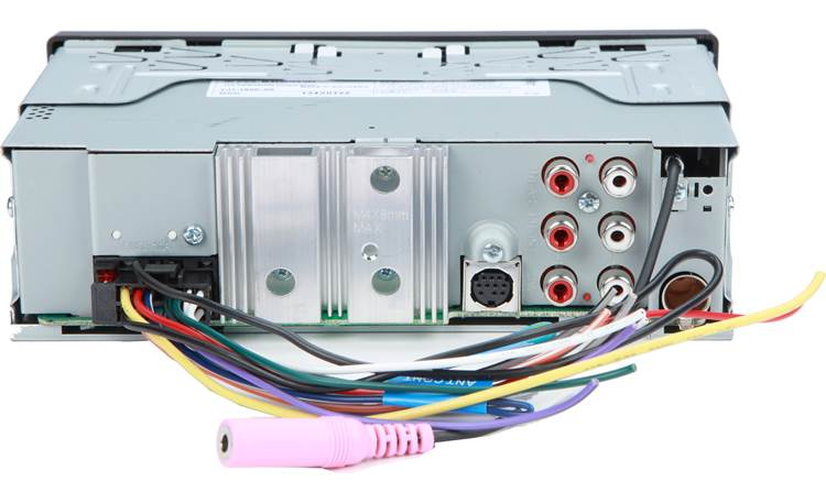 JVC KD-X370BTS Rear panel shown with included wiring harness