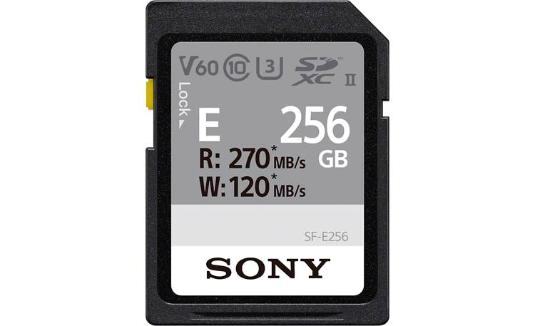 Sony SF-E Series SDXC Memory Card Front