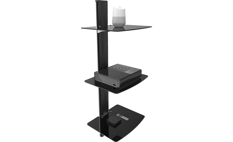 Kanto AVT3 Each shelf supports up to 20 lbs. (gear not included)