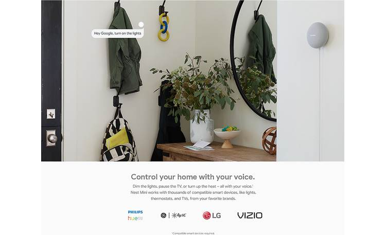 Google Nest Mini Control compatible smart home devices
