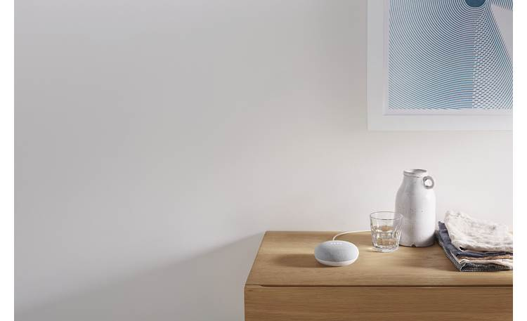 Google Nest Mini Great for nightstand or endtable