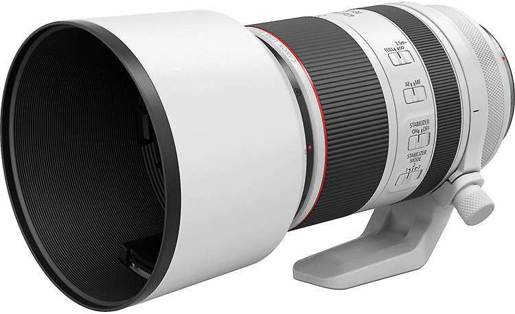 Canon RF 70-200mm f/2.8L IS USM Shown with lens hood installed