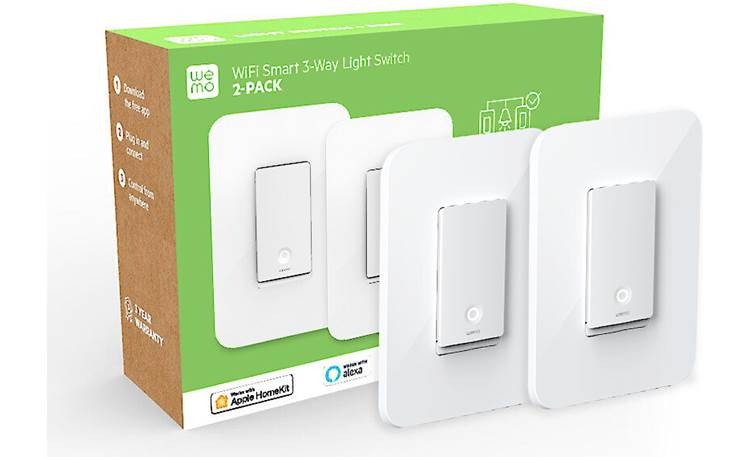 Belkin Wemo Smart Light Switch 3-Way Only one smart switch required per circuit — second switch can be used on a different circuit