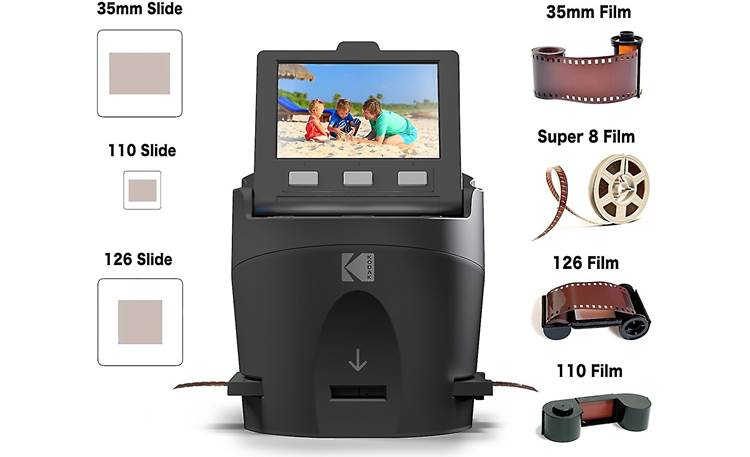 Kodak Scanza Accepts different-sized film and slides