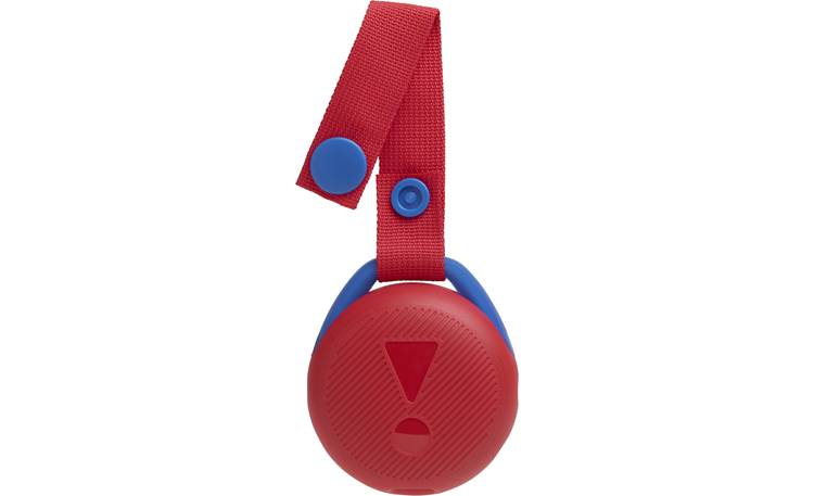JBL JR POP Apple Red - carry strap snaps open and shut