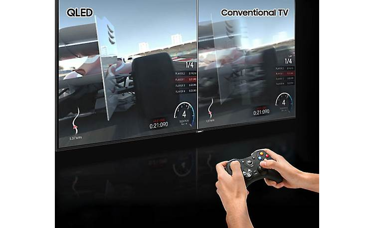 Samsung QN55Q60R QLED's high-contrast glare-free picture and low input lag are great for gaming