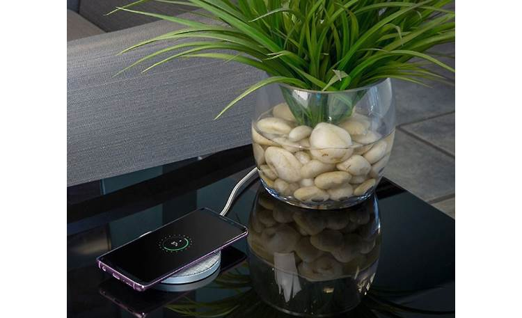 Scosche Charge Surface Pad Blends in with your home decor (phone not included)