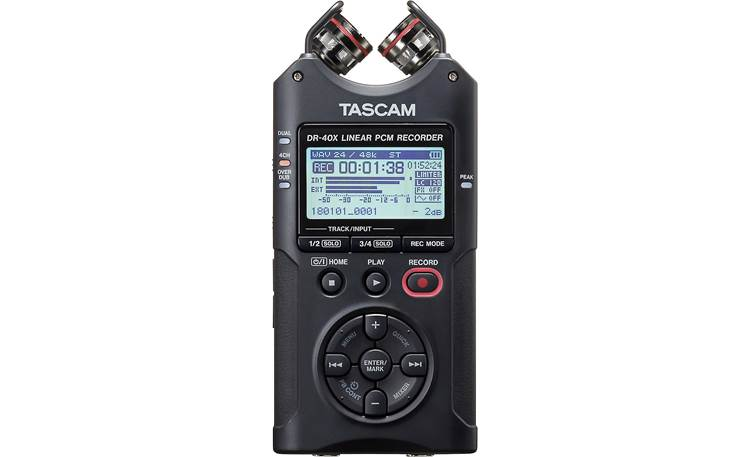 Tascam DR-40X Mics in X-Y (closed) position