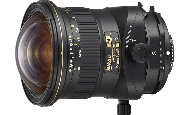 Nikon PC Nikkor 19mm f/4E ED Angled front view