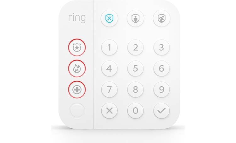 Ring Alarm 5-Piece Security Kit (2nd Generation) The keypad arms and disarms your system