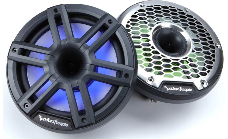 Rockford Fosgate M2-8HB Built-in illumination brings these speakers to life