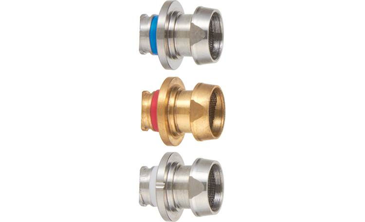 JVC HA-FD01 Includes 3 sets of interchangeable ear tip nozzles: titanium, brass, and solid steel