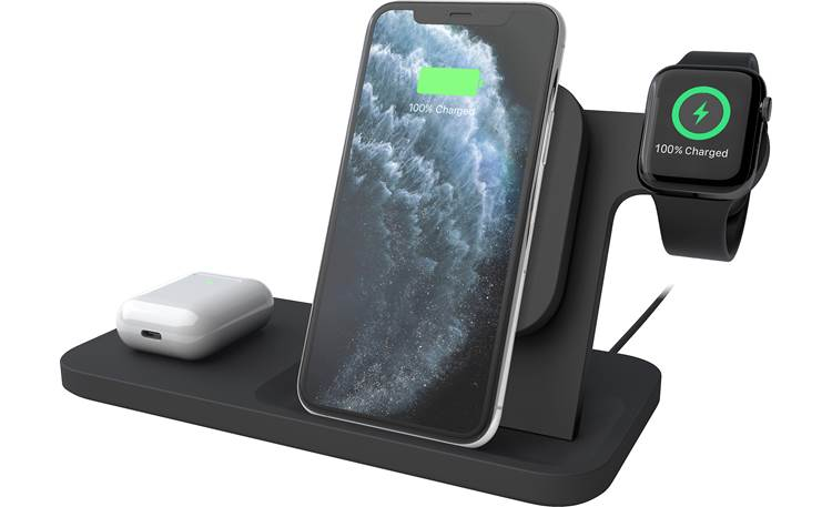 Logitech POWERED 3-in-1 Dock Front (portable devices not included)
