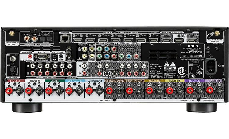 Denon AVR-X3700H (2020 model) Back
