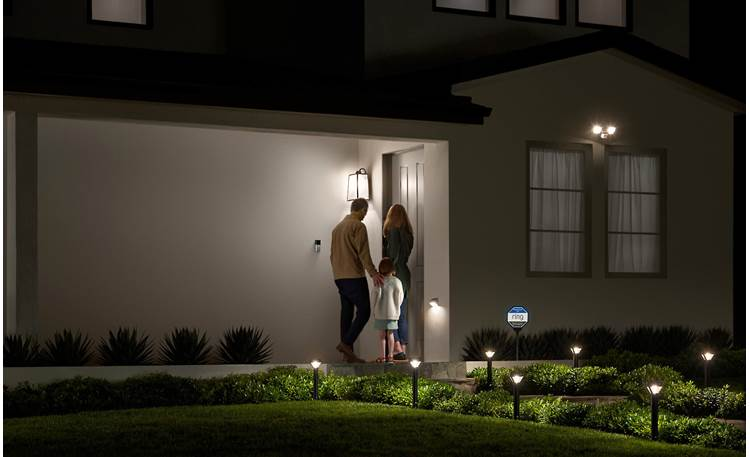 Ring Smart Lighting Floodlight Solar Works in conjunction with other Ring lighting and cameras