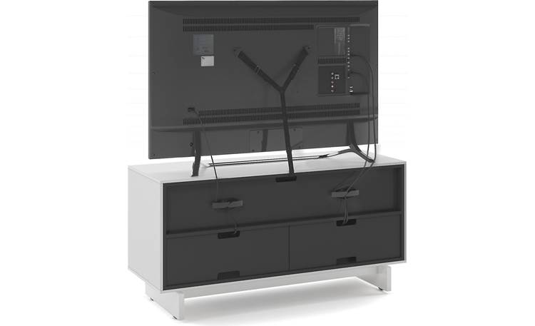 BDI Align 7478 Media Cabinet Removable back panels and included safety strap (TV not included)