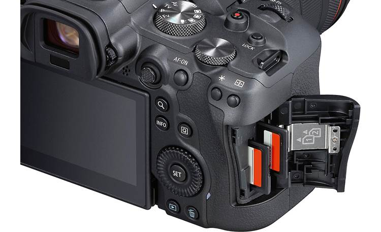 Canon EOS R6 Zoom Kit Dual card slots for expanded storage and recording options