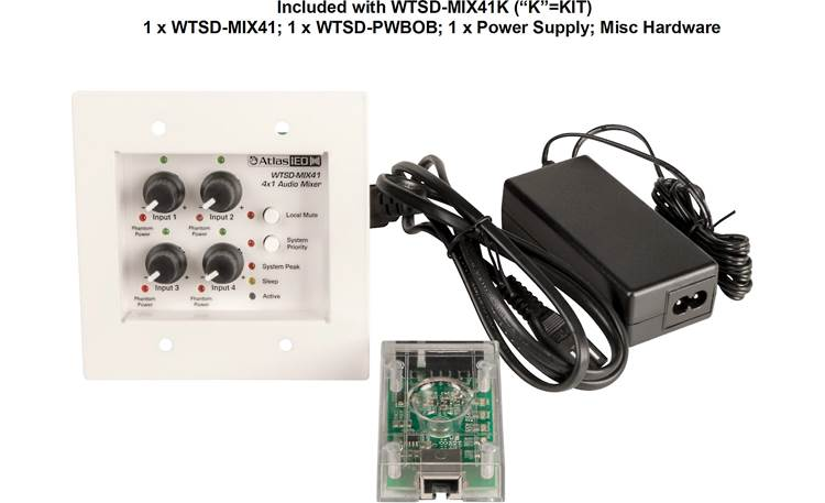 AtlasIED WTSD-MIX41K Shown with included accessories