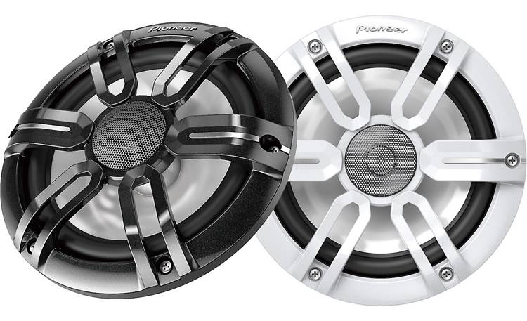 Pioneer TS-ME770FS Black and White speaker grilles are included