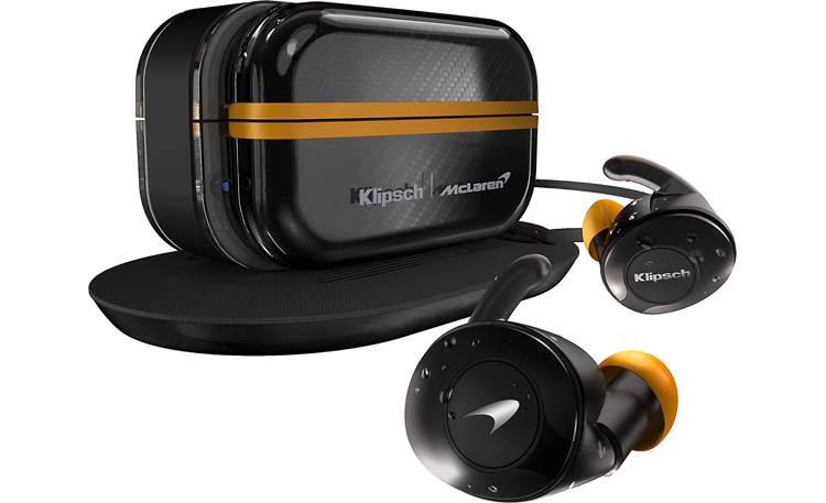Klipsch T5 II True Wireless Sport (McLaren Edition) 100% wire-free earbuds for workouts and running (includes charging case and mat)